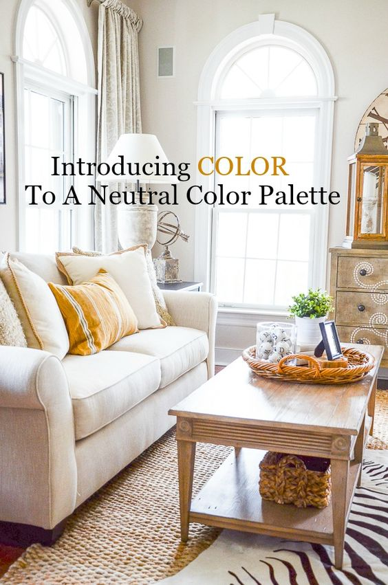 Introducing Color To A Neutral Color Palette- Adding a POP of color to a neutral room can bring it to life! Here are my favorite ways to add color...