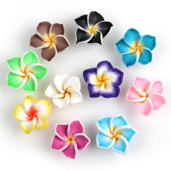 New 50pcs Mixed Flower Fimo Polymer Clay Spacer Beads 15mm 111590 Free PP #Spacer