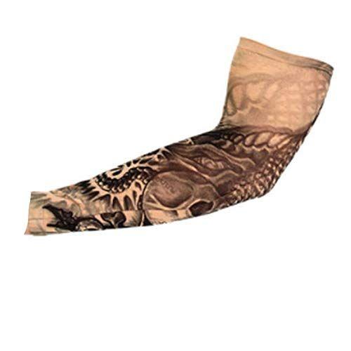 قطعة واحدة من النايلون المرن بتصميم الوشم المؤقت للجوارب Tatoo Cool Uv يحمي من الشمس للرجال والنساء م In 2020 Temporary Tattoo Sleeves Sunscreen For Men Sleeve Tattoos