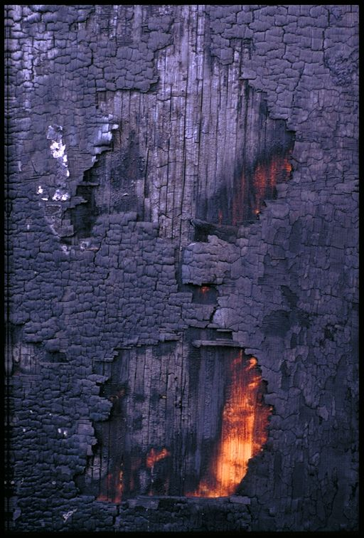 After fire. Photo by Gene Scotten.