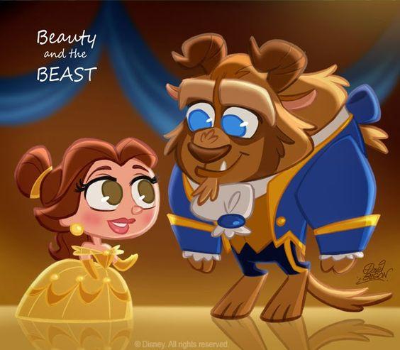 David Gilson: 50 Chibis Disney : la Belle et la Bête