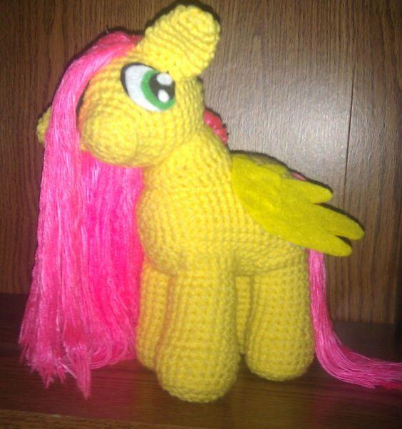 My Little Pony MLP Handmade Crochet Amigurumi Fluttershy Plushie Doll. $50.00, via Etsy.