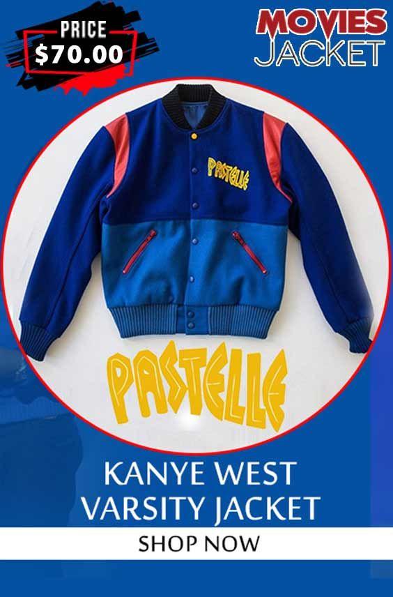 Pastelle Kanye West Varsity Jacket In 2020 Varsity Jacket Kanye West Jackets