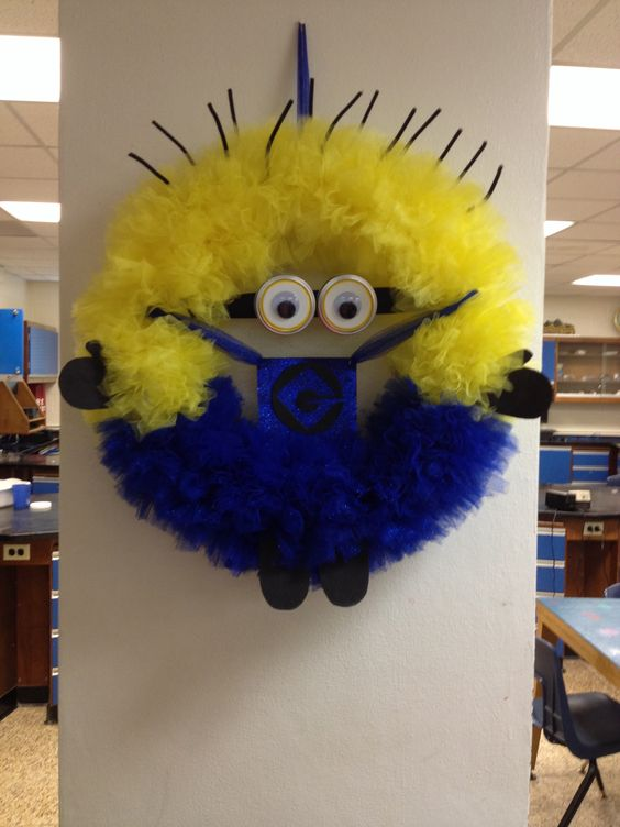 Minion Wreath Made For A Friends Baby Shower I M So