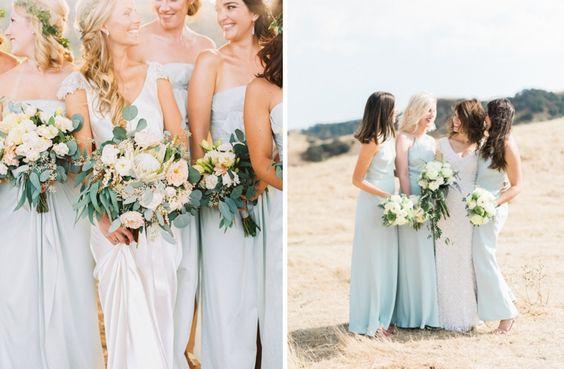 Les demoiselles d'honneur en bleu pastel | Look Mariage | Queen For A Day - Blog…