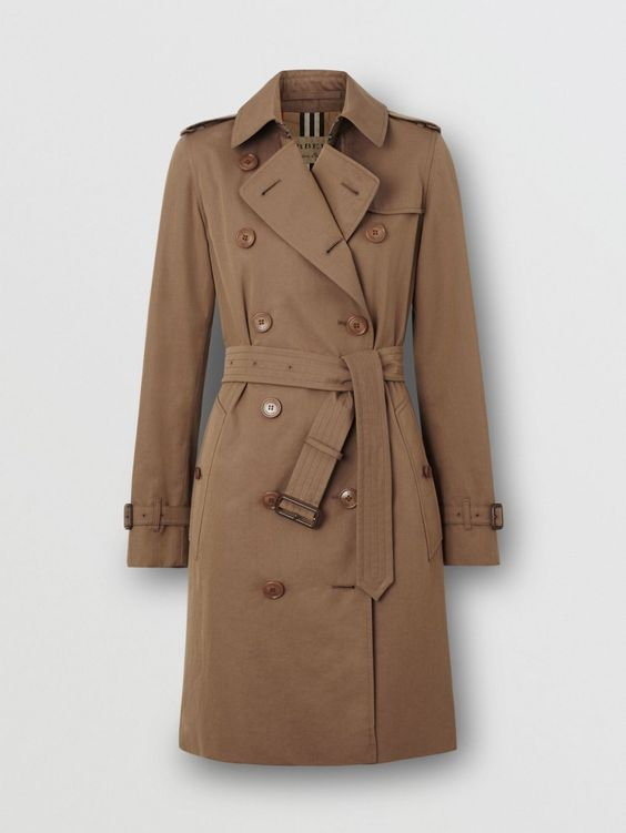Tropical Gabardine Trench Coat in Taupe - Women | Burberry United States