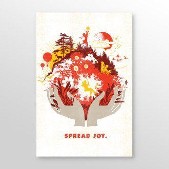Spread Joy Giclee Print by Brad Davis
