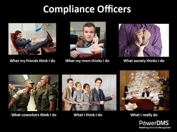 Compliance officers what i do cartoon photo from - Qualifications for compliance officer ...