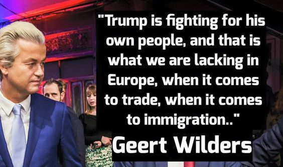 Geert is always described as far right like he's some kind of super villain, but he only wants to stop his country being taken over by Muslims. It's him after all, who has to live under constant threat of death for his beliefs. I'd be willing to give him a shot as a leader of Europe, & could anybody be worse than Merkel/Juncker?: