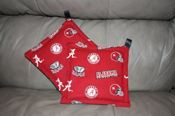 Alabama Crimson Tide Potholders by addiesthings on Etsy, $10.99