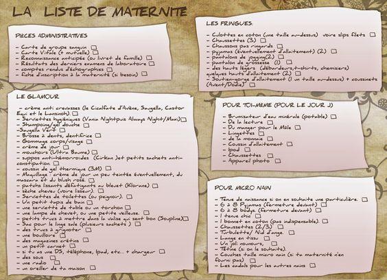 Les Mamans Testent: LA liste pour la maternité (ou : que mettre dans sa valise de maternité?)