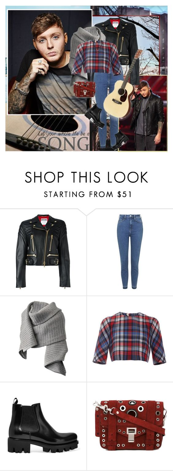 """""""Phoenix is rising, it's rising again..."""" by thisiswhoireallyam7 ❤ liked on Polyvore featuring Moschino, Topshop, Acne Studios, Thom Browne, Prada, Proenza Schouler, plaid and jamesarthur"""