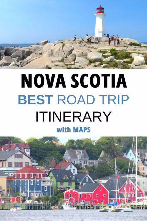 Nova Scotia Road Trip Itinerary With Maps In 2020 Nova Scotia