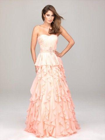 PRINCESS DRESS!  Style A-line Sweetheart  Rhinestone Sleeveless Floor-length Chiffon Evening gown