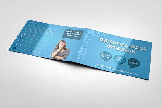 Corporate Bi Fold Brochure Template  Brochure Design