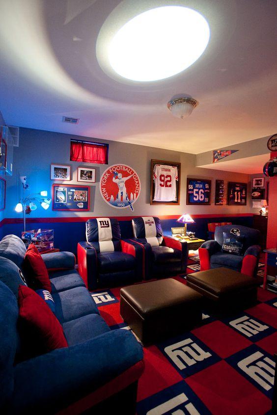 New York Giants Football Field Mirror