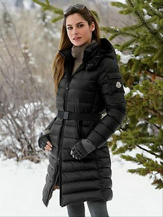 Moncler Mokachine Hooded Puffer Long Coat Black w | winter