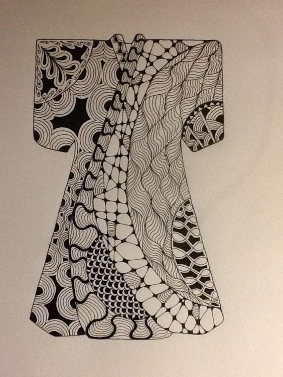 My zentangled kimono.