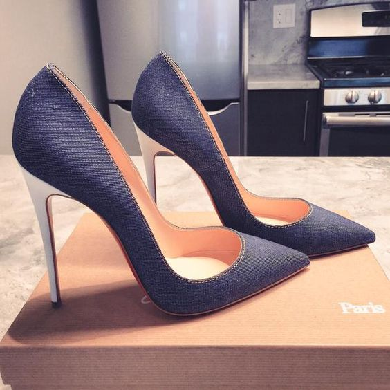 Currently Coveting: Christian Louboutin Indigo Denim So Kate pumps