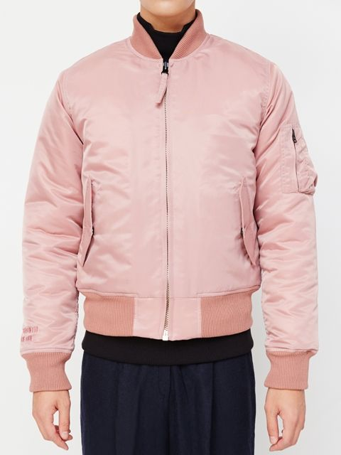 13MONTH] 14 F/W MA-1 flight jacket pink | Flight Jacket 'MA-1 ...