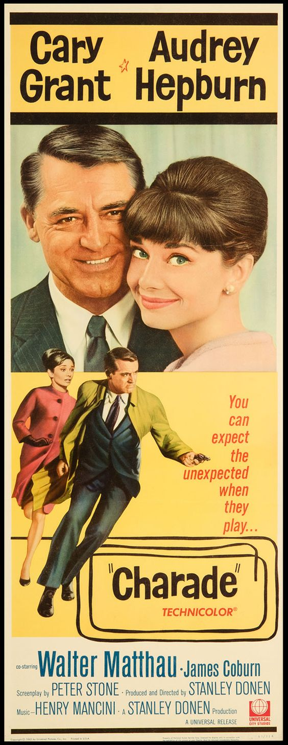 Charade:: Love this movie...if anyone got me a collection of Audrey hepburn movies I'd be in heaven:
