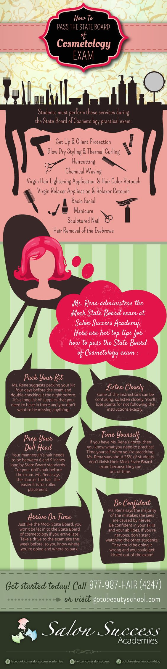 Tips for how to pass the state board of cosmetology exam and get your license!