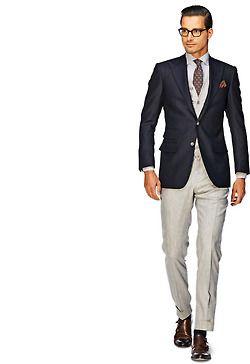 Blue Navy & Beige Suit #Style | Prom dresses | Pinterest | Beige