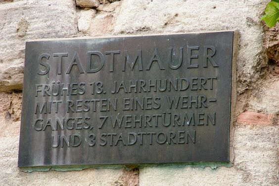 Bad Sooden-Allendorf - Stadtmauer - Infotafel
