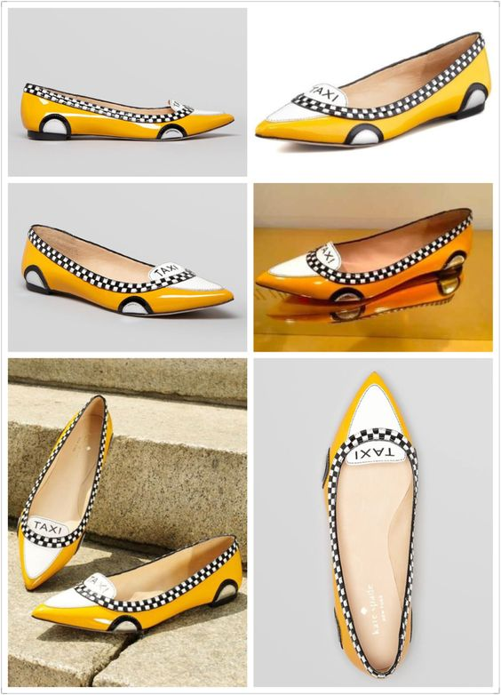 Kate Spade New York Go Taxi leather flats