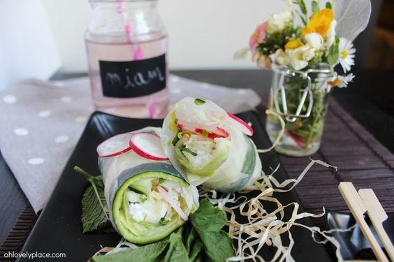 oh lovely place Miam recette #5 : rouleau de printemps végétarien