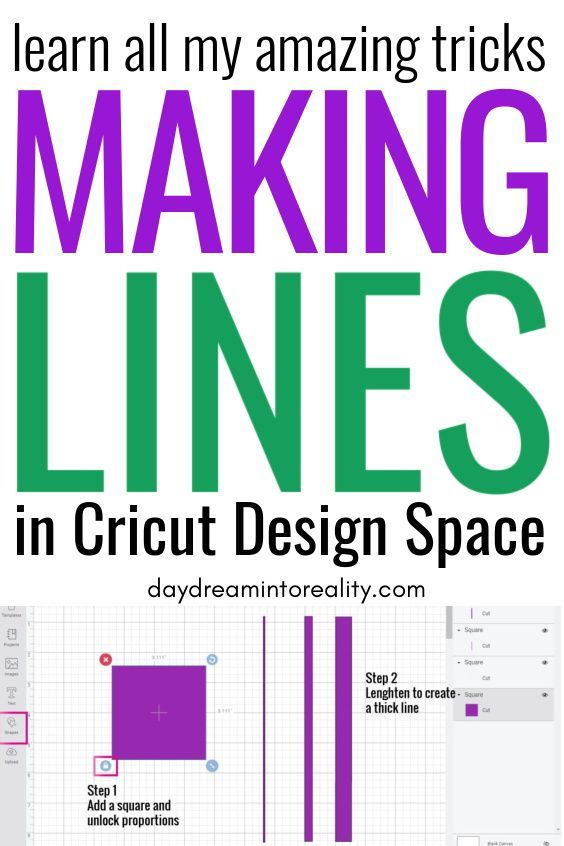 How To Add A Solid Line In Cricut Design Space Thin And Thick Cricut Design Cricut Cricut Tutorials
