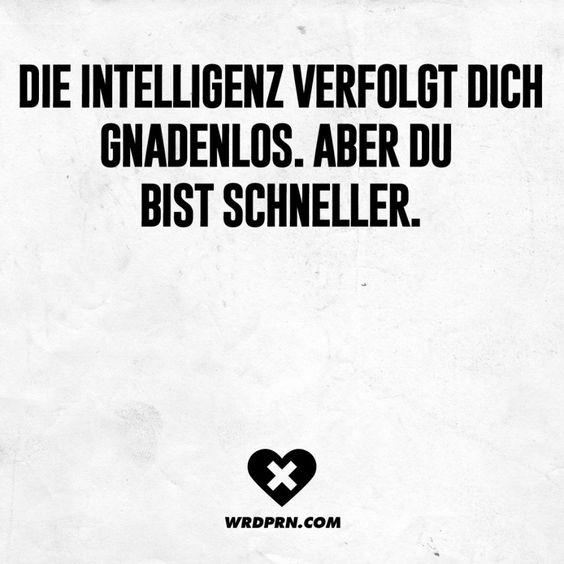 Die Intelligenz verfolgt dich gnadenlos. Aber du bist schneller.