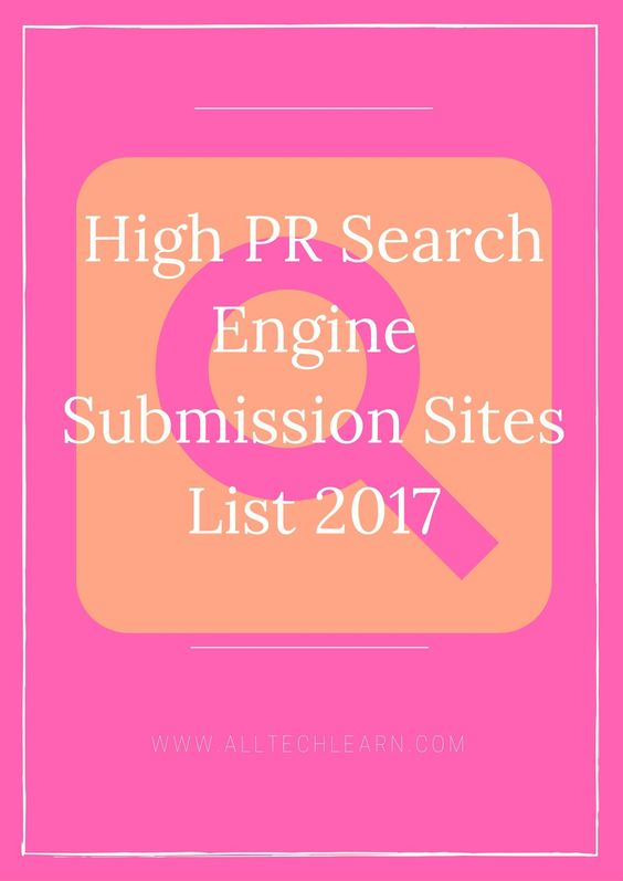 Infographic Ideas infographic submission sites 2016 : high-pr-search-engine-submission-sites-list-for-2017   BLOGGERS ...