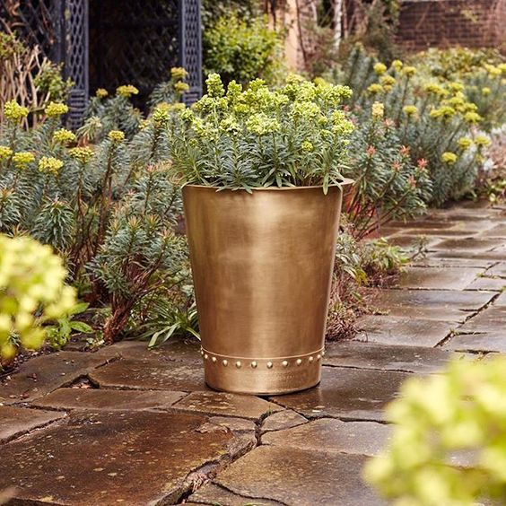 #Bronzino #Brass #Copper #Pots #Planters #Vases #Cauldron #Riveted #Containers: