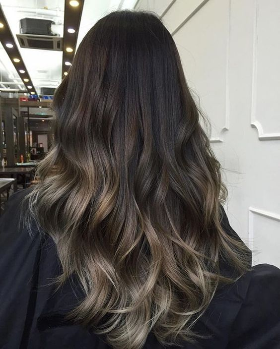 A dark base keeps maintenance low as your roots start to grow out while lighter ends ooze style and sophistication ✨✨ Haircut & Sand Beige Ombre Hair Color.