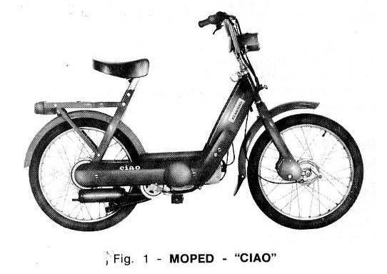 ciao piaggio  bike  motorino