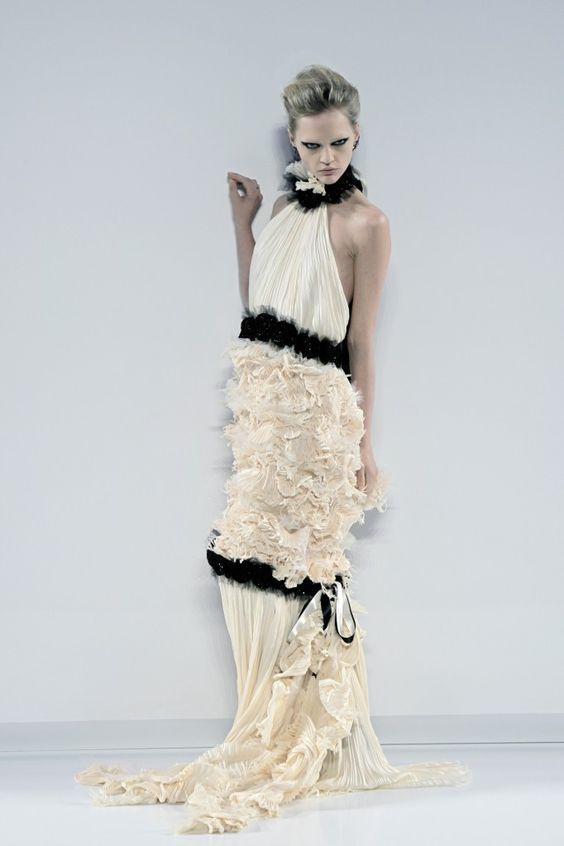 Vestido da Chanel. #casamento #vestidodenoiva #brancoepreto