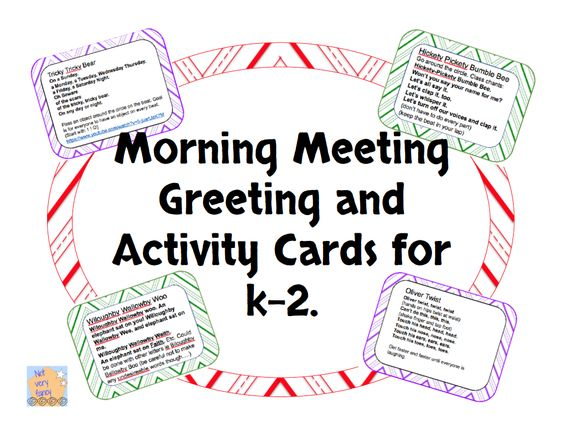 Morning meeting greeting and activities FREEBIE