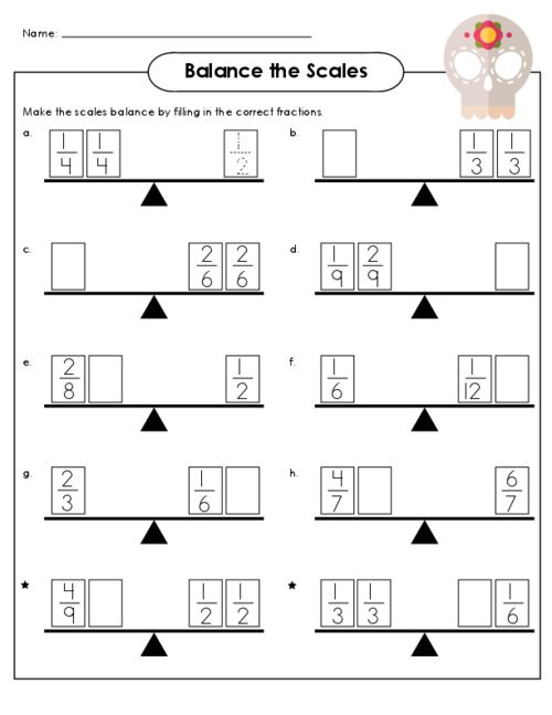Balance the Scale – Cool Math Worksheets