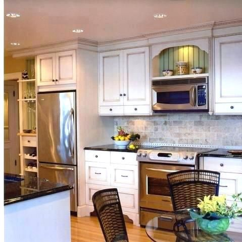picturesque microwave with vent hood of
