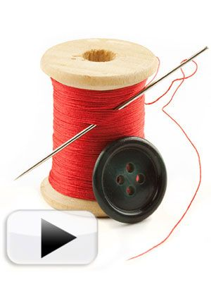 Quick fix - don't be afraid of a missing #button - we'll teach you how to #sew one back on.