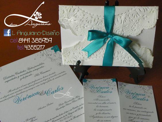 Invitaciones para Boda de Blonda muy chic. By Linda Anguiano  saltillo, coahuila whatsapp 8441 385959