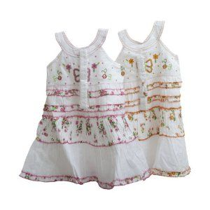 Girls Butterfly and Flower Design Summer Dress with Headband