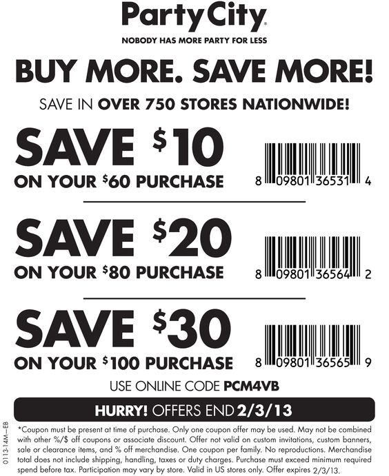 Party City $10 off Printable Coupon | Printable Coupons ...