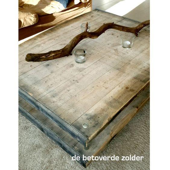 salontafel silverton tafels en meer de betoverde zolder steenschotten meubels pinterest