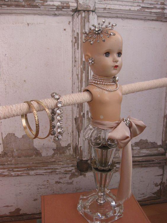 Vintage Doll Jewelry Stand  Madame Alexander doll. $185.00, via Etsy.
