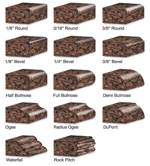 Granite edge types