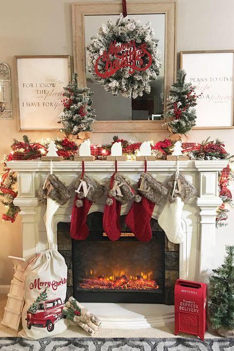 These Christmas Mantel Decor Ideas Will Take Your Home To The Next Level Christmas Mantel Decorations Christmas Fireplace Christmas Fireplace Decor