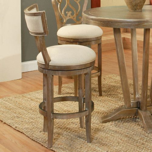 """Found it at AllModern - Clarksville 30"""" Swivel Bar Stool with Cushion"""