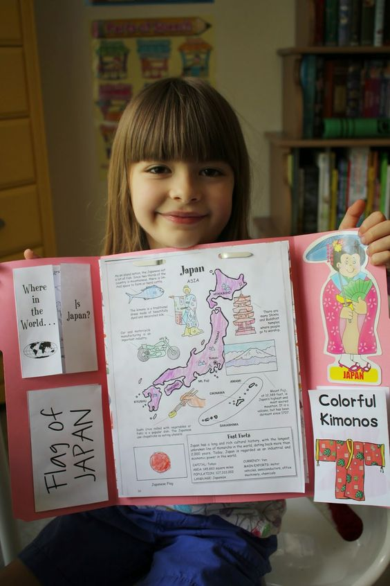 Spark and All - FIAR: A Pair of Red Clogs - Japan Lapbook: